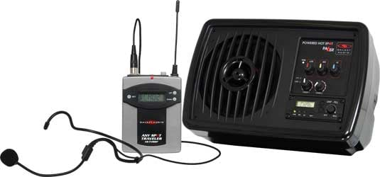 Compact PA System with Wireless Headset