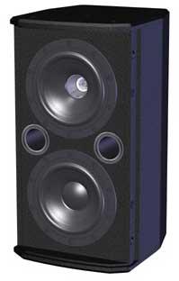 """Dual 5"""" Speaker, Black 8001-6310"""