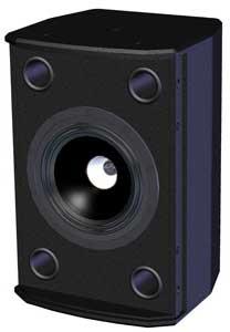 "6"" 200W @ 8ohm Speaker in Black"