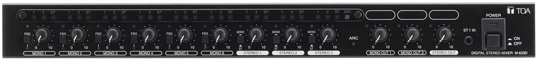 Digital Stereo Mixer, 1RU