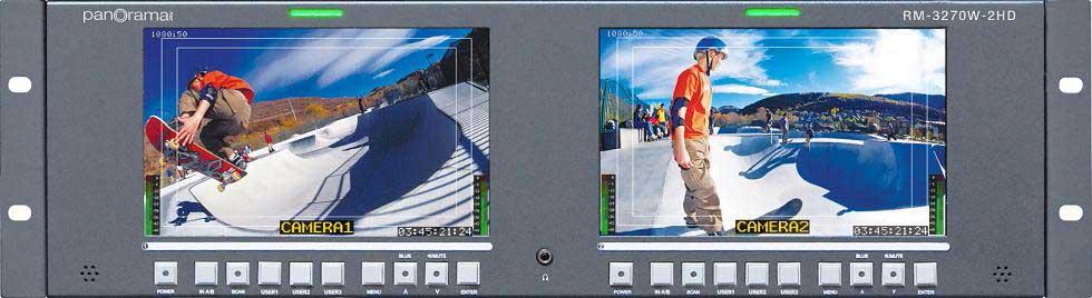 "Dual 7"" Rack Mount LCD monitors"