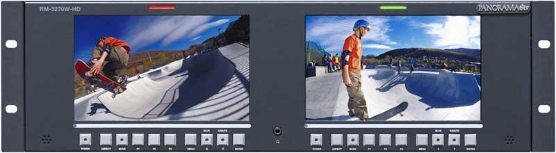 "Dual 7"" Rackmount LCD Monitor"