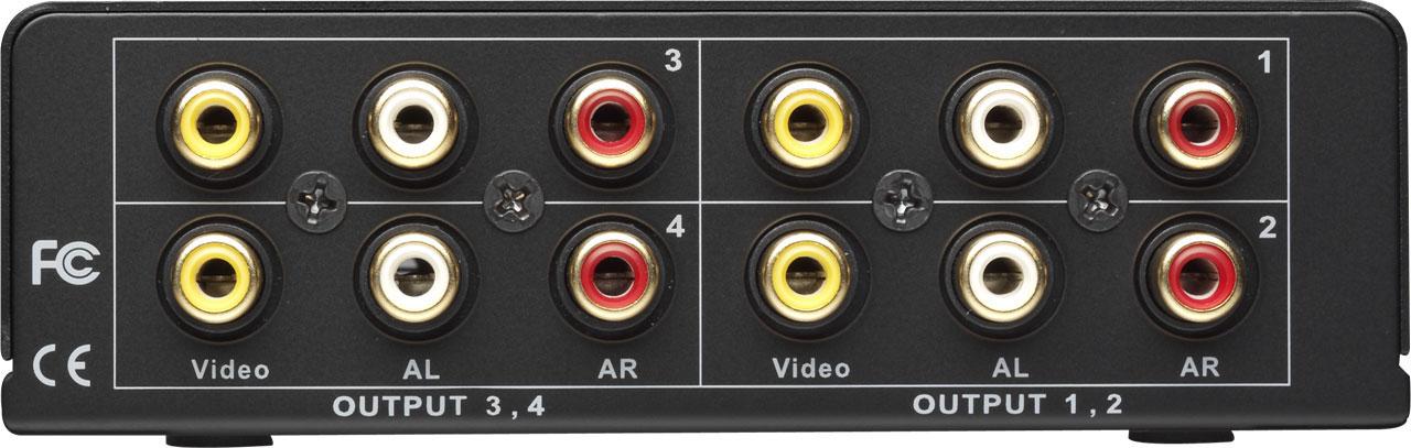 1x4 CV/Stereo Audio Splitter