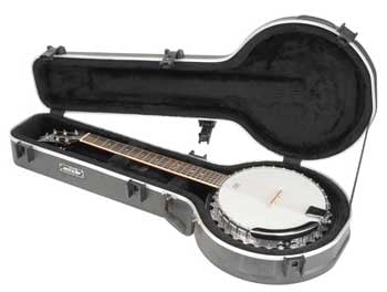 Universal Hardshell 6-String Banjo Flight Case with TSA Latches