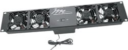 4-Fan Ultra Quiet Thermostatically Controlled Rack Fan Unit