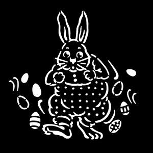 Steel Gobo, Easter Bunny