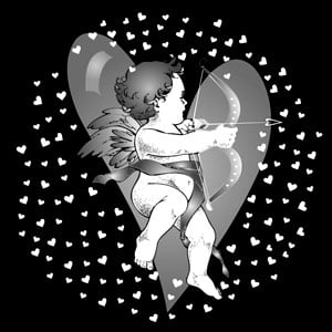 Apollo Design Technology SR-1121 Glass Gobo, Cupid w/Heart SR-1121