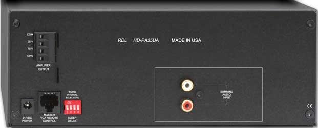 35 Watt Power Amplifier - 25, 70, 100V, with Power Supply