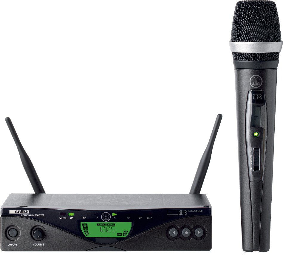 UHF Wireless System with HT470 Handheld MicrophoneTransmitter