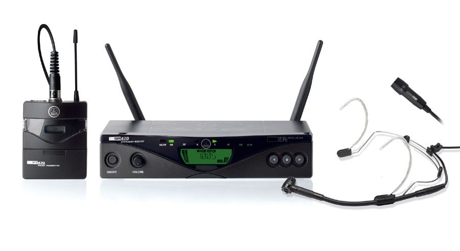AKG WMS470-PRESENTER UHF Wireless System with Bodypack and Headset Mic WMS470-PRESENTER