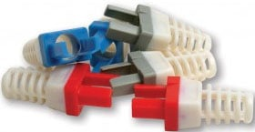 50-Pack of Strain Reliefs for Cat6+ Connectors