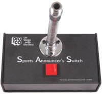 "Push-to-Talk Sports Announcer's Switch with 6"" Gooseneck"