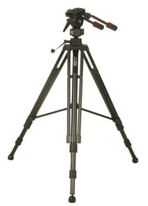 Tripod with Large Pro-5 2-Way Fluid Head