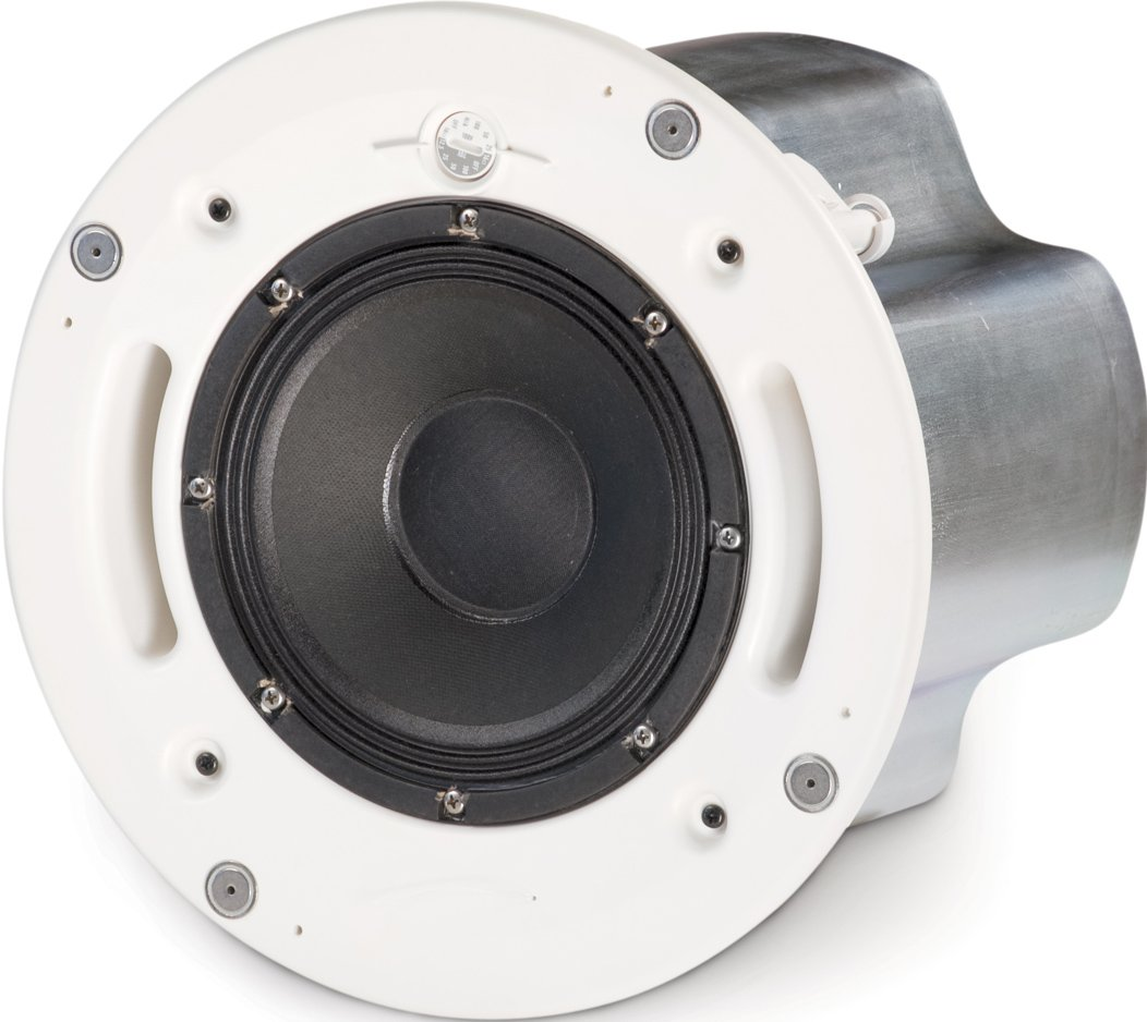 Loudspeaker System with AD-C821 Loudspeaker, Split Ring, Tile Rails, & Round White Grille