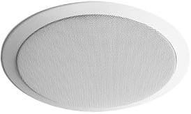 """70V, 2-Way White In-Ceiling Speaker, 6.5"""" Woofer, 0.5"""" Tweeter"""