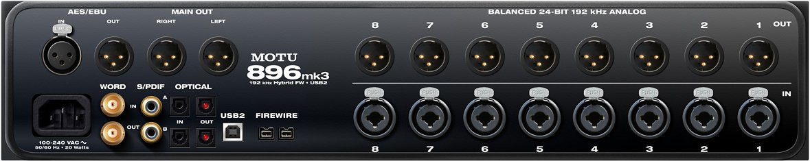 FireWire/USB 2.0 Audio Interface with 8 Mic Pres, Effects, Mixing