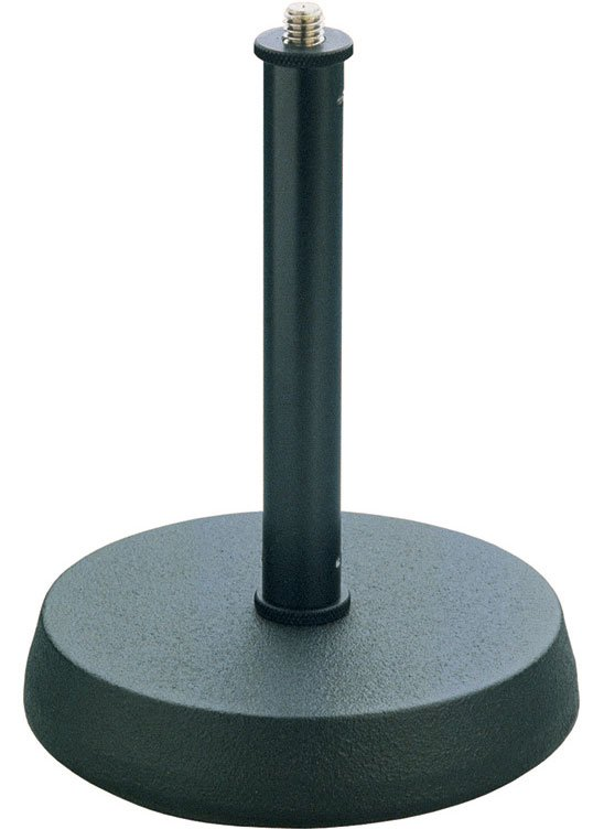 "Table Top Microphone Stand, 6.89"" High, 5"" Diameter Iron Base"
