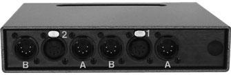 A/B DMX Switch Box, Two Channel