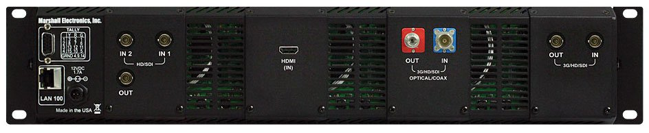 "2RU, 4x 4.3"" Hi-Res LCD Rack Monitor Unit with Modular I/O"