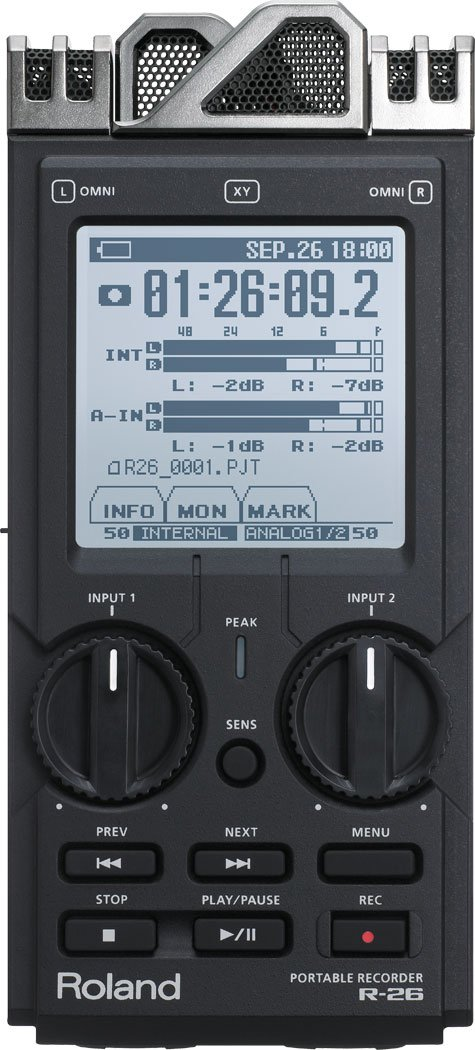 Portable Recorder with 3-Way Microphone