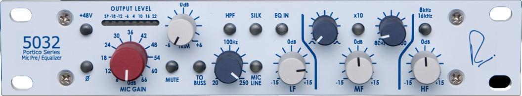 Single-Channel Horizontal Mic Preamp/3-Band EQ