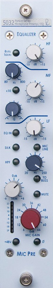 Single-Channel Vertical Mic Preamp/3-Band EQ