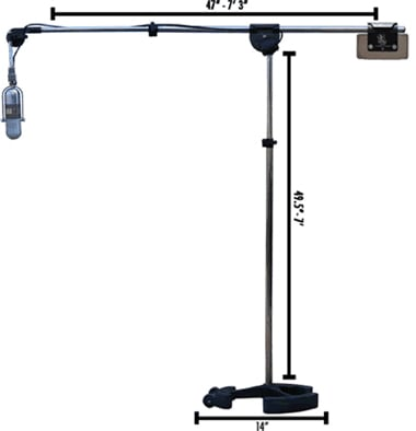 "45.5""-7' Microphone Boom Stand in Black"