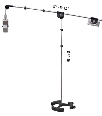 3.5'-9.5' Microphone Boom Stand in Black