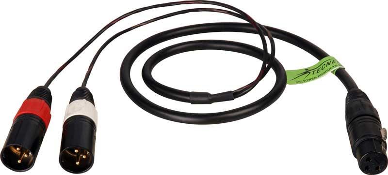 Y Cable: XLR(F) to XLR(M) 3ft