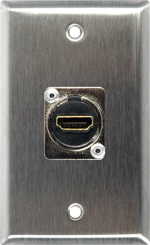 Single Gang Wall Plate with 1 HDMI feed-thru