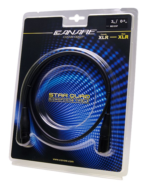 Starquad XLR Cable, Female to Male, 3ft