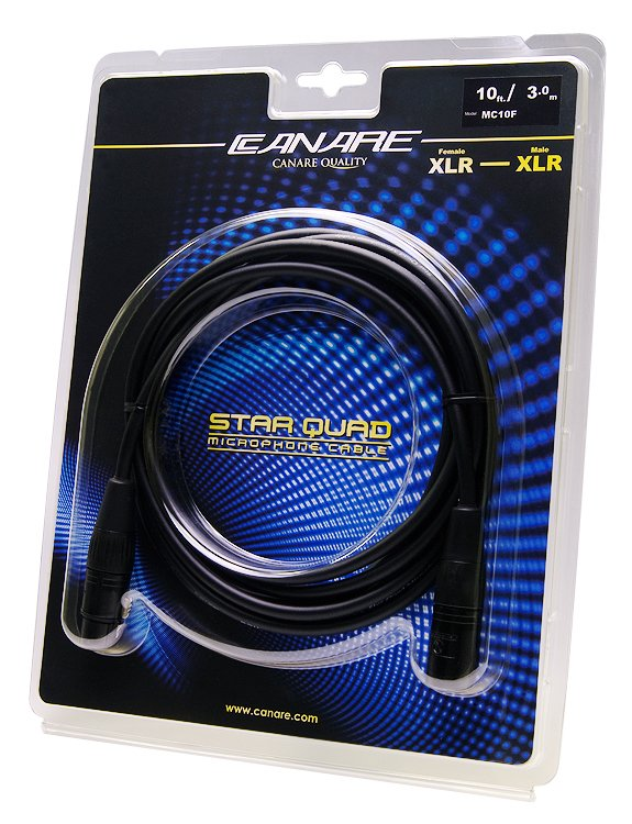 10 ft Starquad XLR Cable, Female to Male