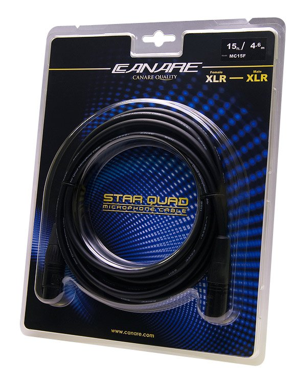 15 ft Female to Male Star Quad XLR Cable