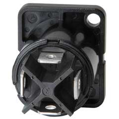 Panel Mount Receptacle, 4 Pole