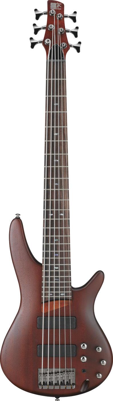 Brown Mahogany SR Series 6-String Electric Bass