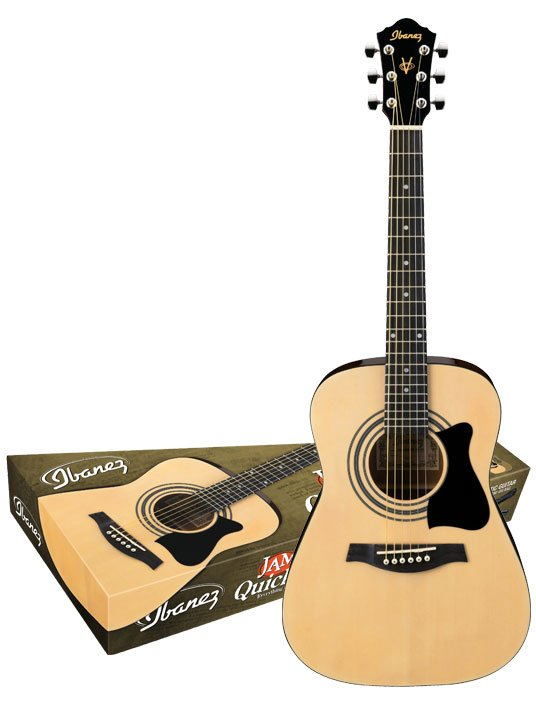 Ibanez IJV30 Jam Pack Solid Top Acoustic Jam Pack Acoustic Guitar 3/4 Size IJV30