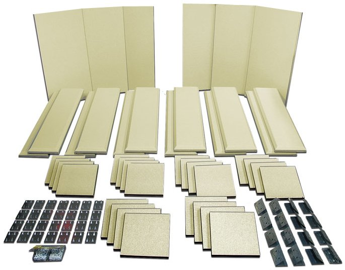 Broadway Acoustical Panels Room Kit with 6 Broadway Panels, 12 Control Columns, 24 Scatter Blocks