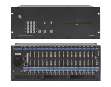 2x2 to 16x16 Multi-Format Modular Digital Matrix Switcher Chassis