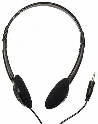 Headphones, 2 x 32 O, 2.6' Cable, Stereo Mini-jack, For Tour Guide Systems