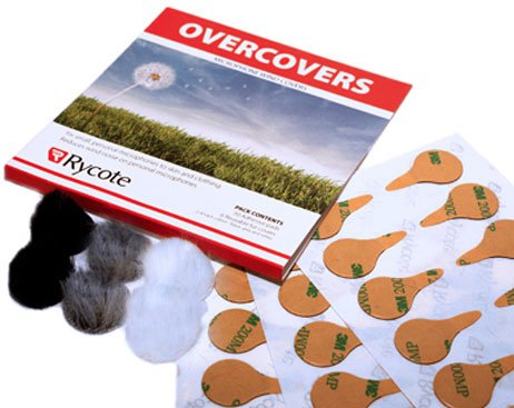 6 Black Fur Overcovers with 30 Stickies