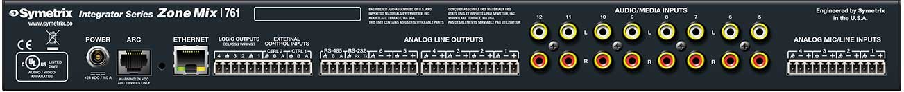 Paging and Zone Mixer with 6 Outputs
