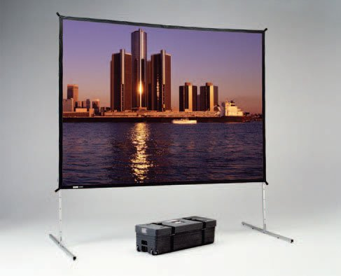 "56"" x 96"" Fast-Fold® Deluxe Truss Frame Da-Tex™ (Rear Projection) Screen"