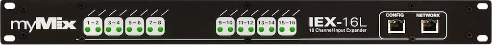MyMix IEX-16L-A 1RU 16-Channel Analog Line-Level Input Expander Module with 2x8 ADAT Inputs IEX-16L-A