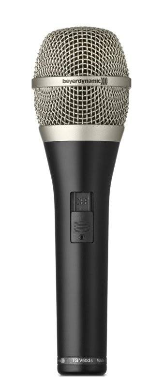 Supercardioid Dynamic Mic for Vocals with On/Off Switch