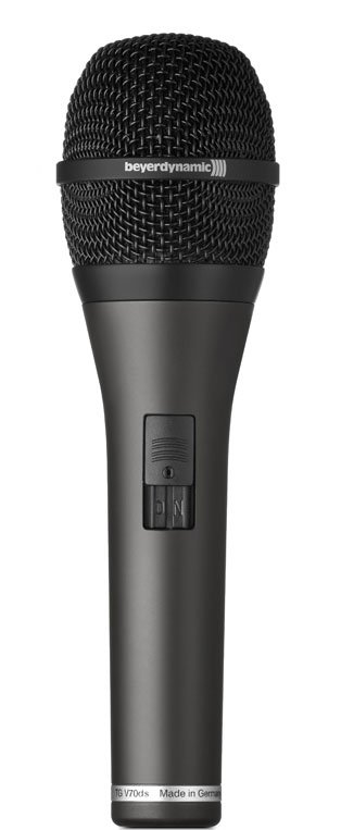 Hypercardioid Dynamic Vocal Microphone with On/Off Switch