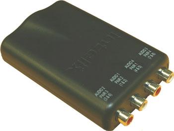 Intelix AVO-A4-F 4 Mono or 2 Stereo A/V Balun AVO-A4-F