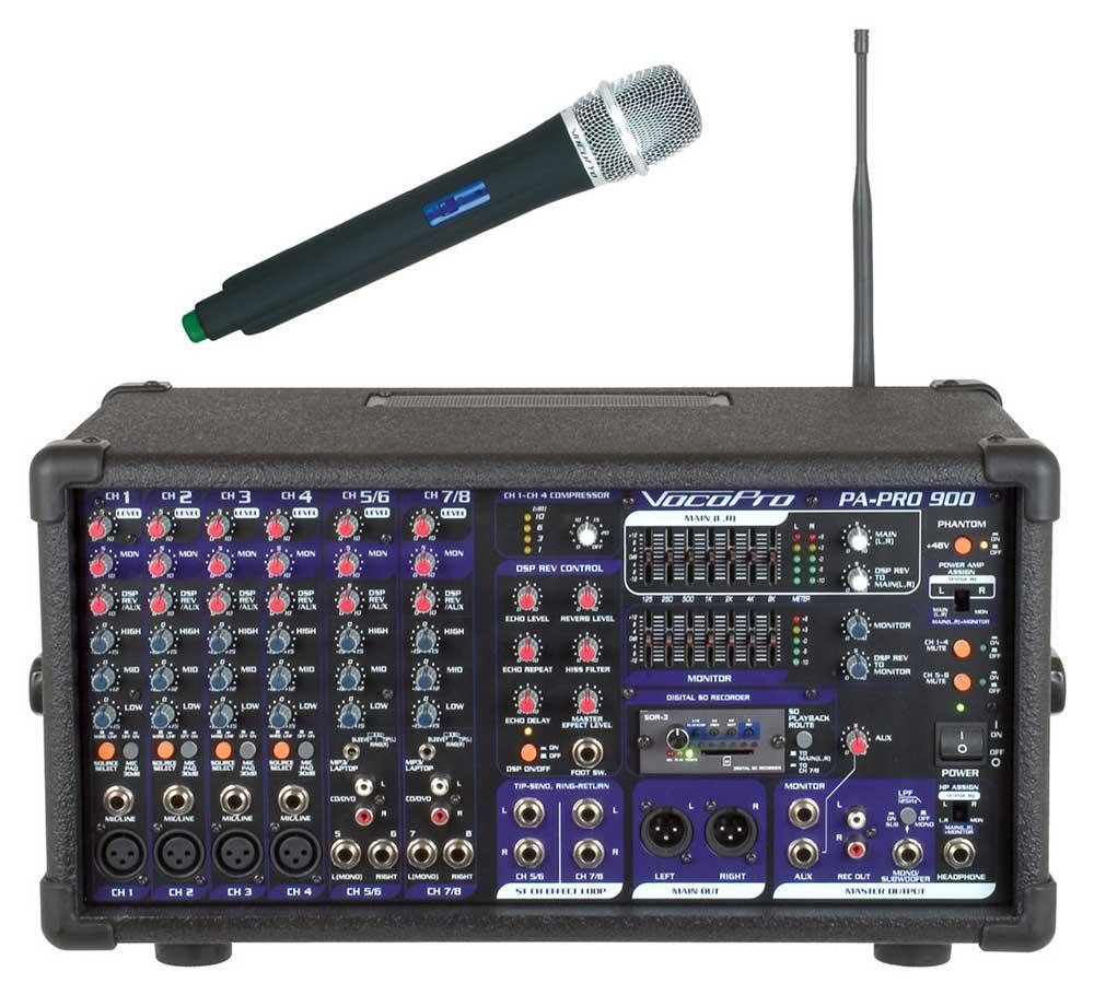 PA Mixer, 1 Mic, SDR-3, 900W