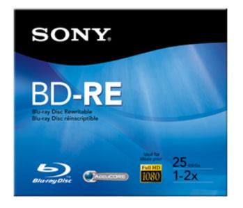 BluRay BD-RE Rewritable Disc, 25GB
