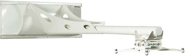 White Short Throw Projector Arm/Wall Mount with Extension Pole
