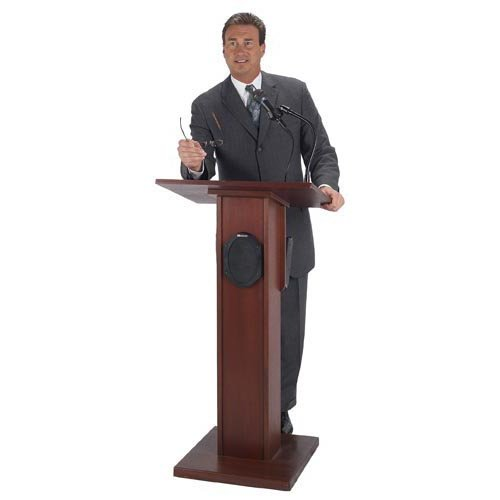 Wireless Elite Lectern with Handheld Microphone Transmitter